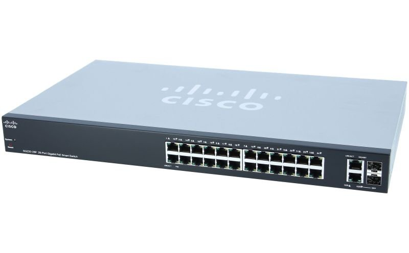 Cisco Smart Plus SG220-26 - 26 Ports - Manageable Ethernet Switch - 2 Layer Supported - Desktop, Rack-mountable - Lifetime Limited Warranty
