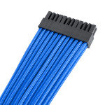 EXDISPLAY Premium Braided 30cm PSU Extension Cable Kit - Blue