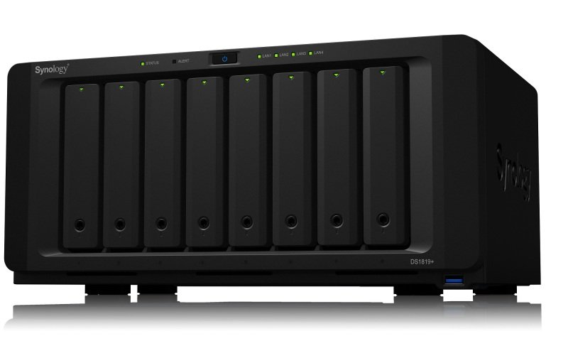 Synology DS1819+ 8 bay desktop NAS with 32TB HDD (8 x 4TB Seagate IronWolf SATA NAS HDD 5900RPM) pre-installed.