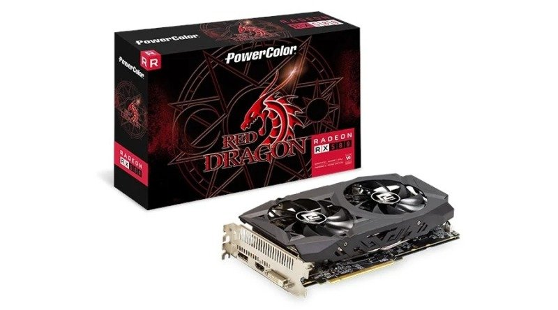 Powercolor Radeon RX 580 8GB DDR5 Red Dragon V2 Graphics Card