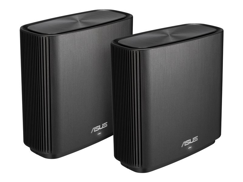 ASUS ZenWiFi AC (CT8) Wireless Router Tri-band(2.4 GHz / 5 GHz / 5 GHz)Gigabit Ethernet -Black 2PACK