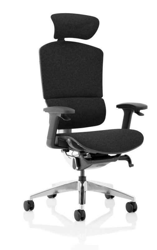 Ergo Click Plus - FabriMesh With Headrest, Black