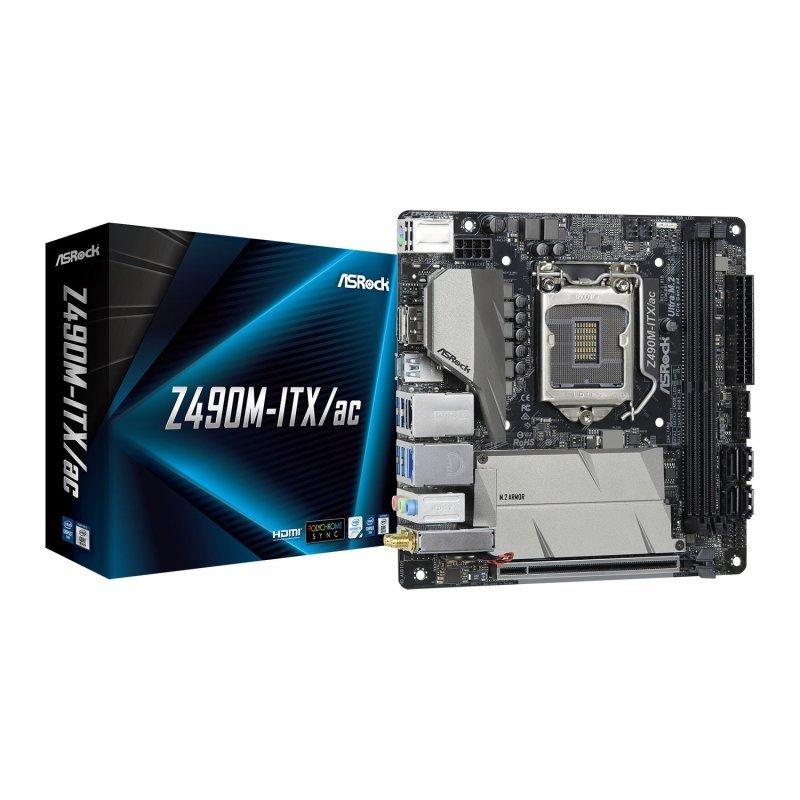 ASRock Intel Z490M-ITX/ac Mini-ITX Motherboard