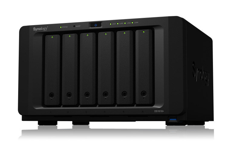 Synology DS1618+ 6 bay desktop NAS with 24TB HDD (6 x 4TB Seagate IronWolf SATA NAS HDD 5900RPM) pre-installed
