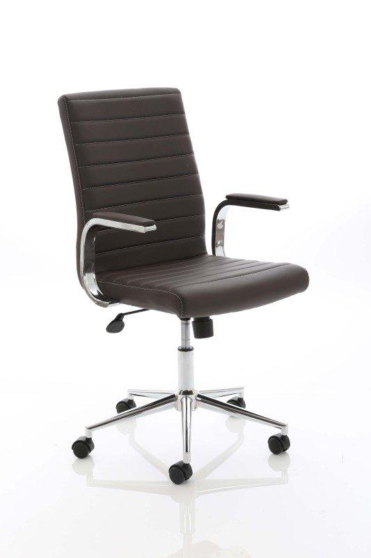 Ezra Executive Leather Chair - Brown