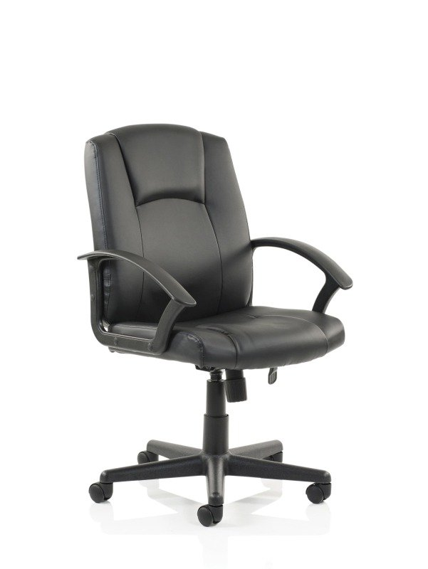 Bella Executive Leather Manager's Chair, Black