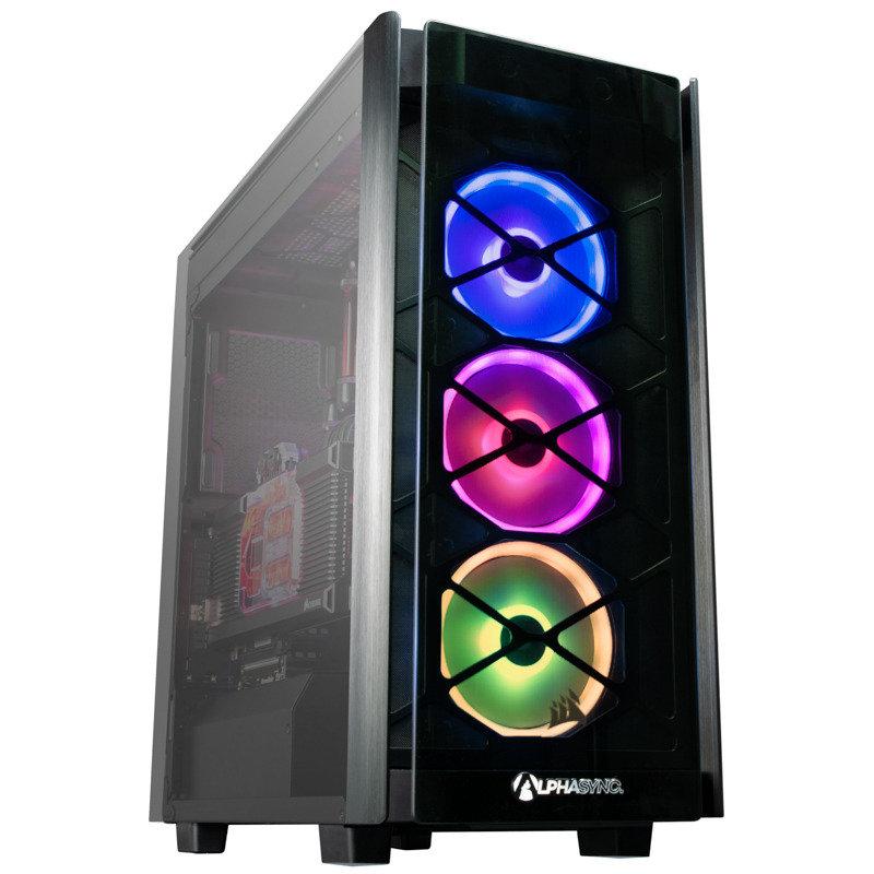 AlphaSync Water Cooled Ryzen 9 3900X 32GB RAM 4TB HDD 1TB SSD RTX 2080 Ti Gaming Desktop PC