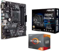 Asus PRIME B450M-A mATX Motherboard with AMD Ryzen 5 3600 AM4 CPU/ Processor