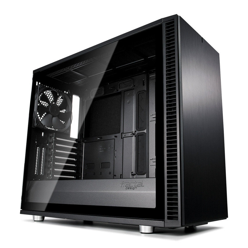 Image of Fractal Define S2 Blackout Tempered Glass Midi PC Gaming Case