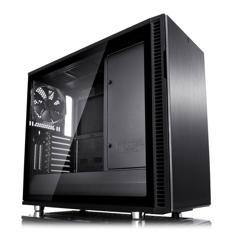 Image of Fractal Define R6 Blackout Tempered Glass USB-C Midi PC Gaming Case