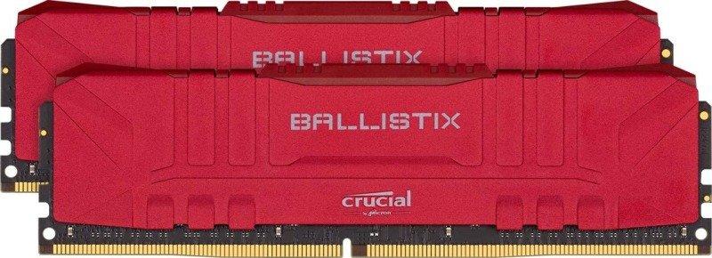 Crucial Ballistix Red DDR4 2666 DRAM Desktop Gaming Memory Kit 32GB (16GBx2) CL16