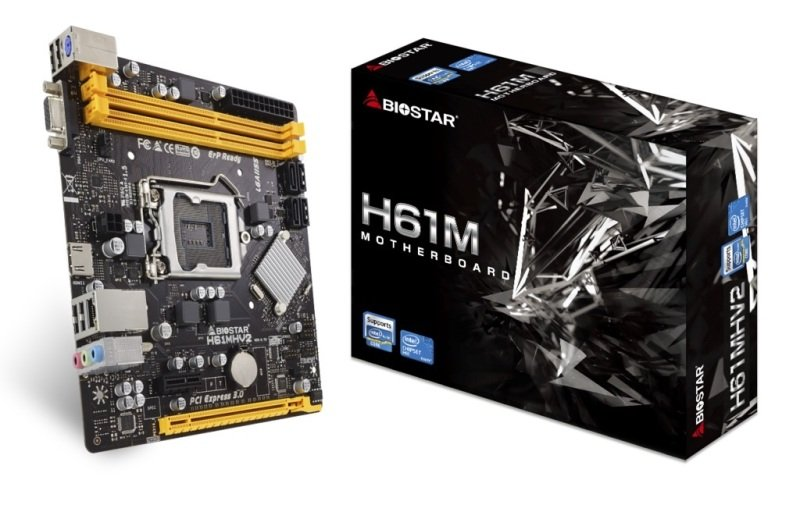 Biostar H61MHV2 1151 mATX Motherboard