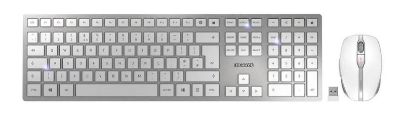 CHERRY DW 9000 Wireless Keyboard & Mouse Set (USB) Bluetooth/RF Rechargeable UK Layout