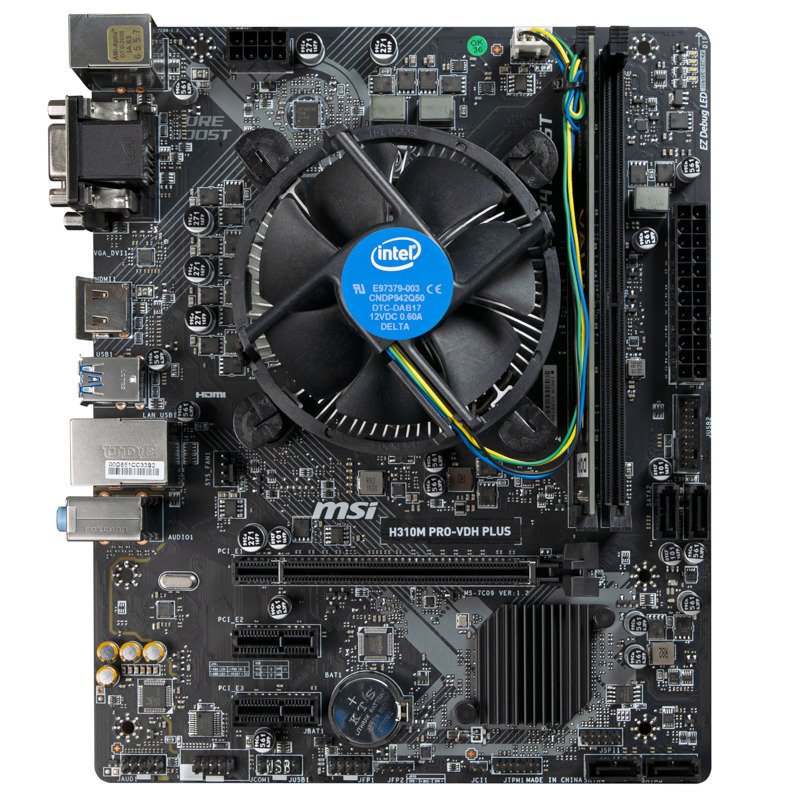 Image of AlphaSync Custom PC Bundle - Intel Core i5-8400 CPU, MSI H310M PRO-VDH PLUS Motherboard, 8GB DDR4 Corsair RAM