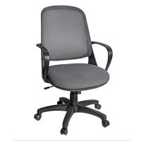 Soho Mesh Back Operators Chair With Fabric Seat - Grey