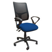Clifton Mesh Back Operators Chair With Fabric Seat - Blue