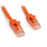 StarTech.com Snagless Cat6 UTP Patch Cable 7.6m Orange