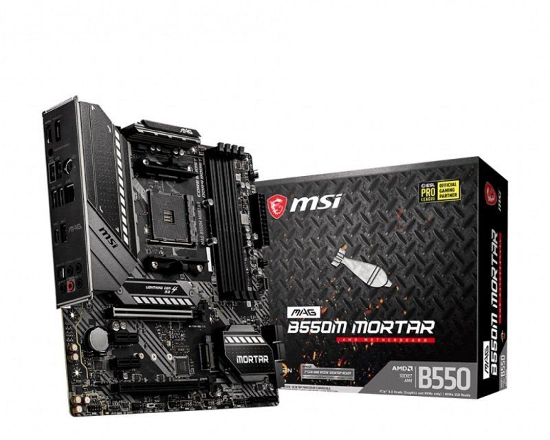 MSI MAG B550M MORTAR DDR4 mATX Motherboard