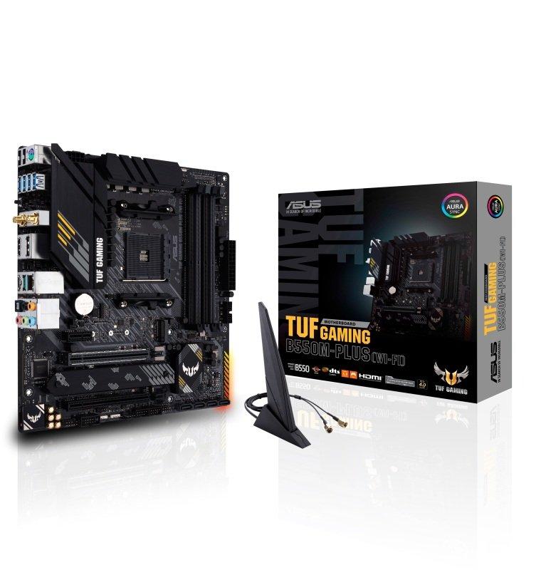 ASUS TUF GAMING B550M-PLUS (WI-FI) DDR4 mATX Motherboard