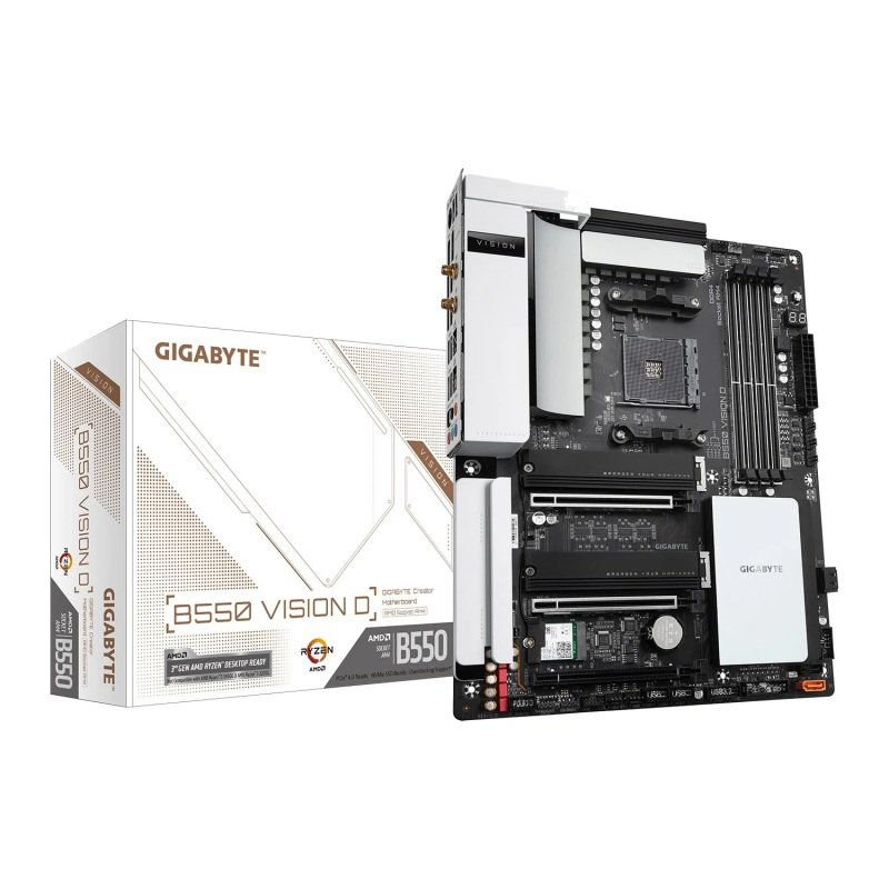 Gigabyte AMD B550 VISION D AMD4 ATX Motherboard