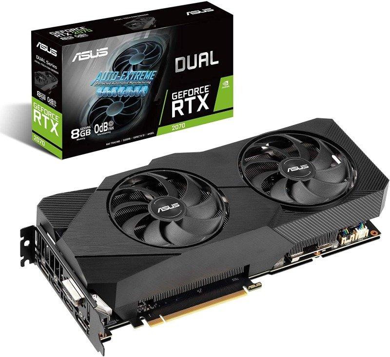 Asus GeForce DUAL RTX 2070 OC 8GB EVO V2 Graphics Card