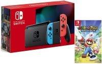 Nintendo Switch Neon & Mario + Rabbids Kingdom Battle