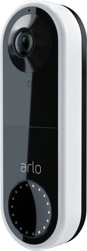 Arlo Wired Smart Video Doorbell White - Works with Alexa and Google Assistant