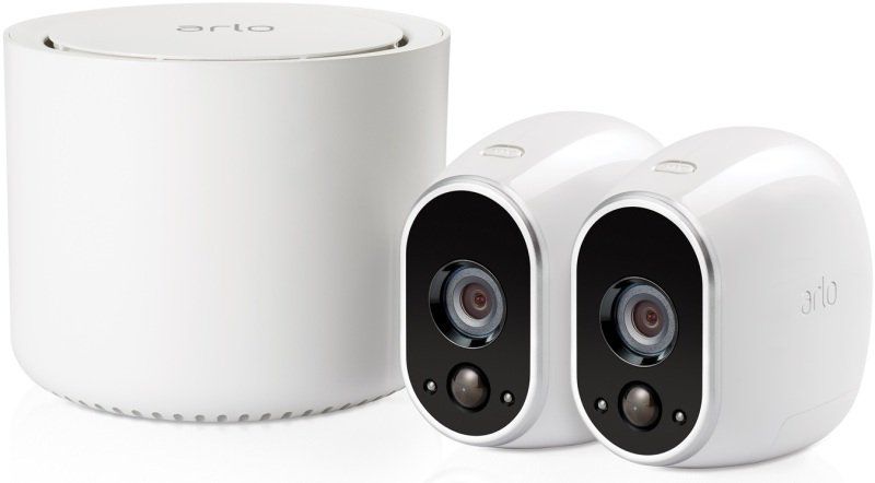 Image of Arlo HD Smart Home Security Cameras   Wire-Free   Night Vision   Indoor/Outdoor   HD   Free Cloud Storage Included   2 Camera Kit   VMS3230