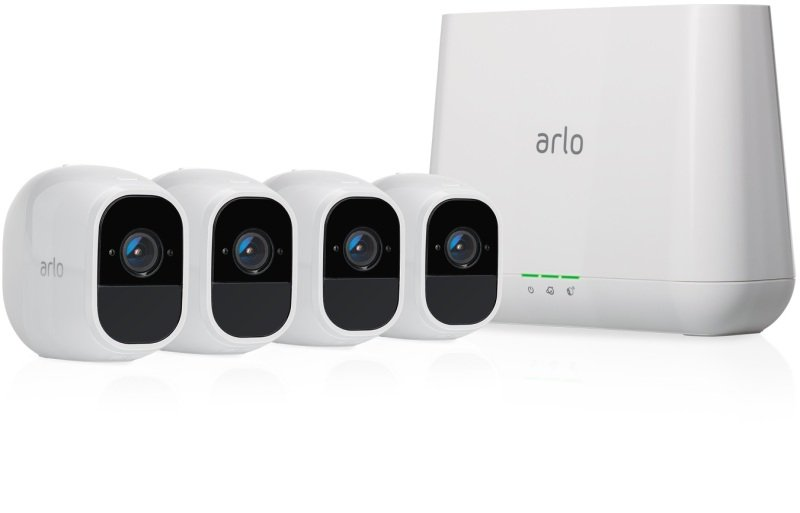 Arlo Pro2 Smart Home Security Cameras | Alarm | Rechargeable | Night Vision | Indoor/Outdoor | 1080p | 2-Way Audio | Free Cloud Storage Included | 4 Camera Kit | VMS4430P