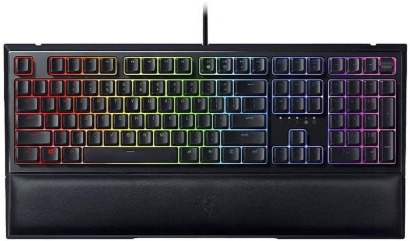 Image of Razer Ornata V2: Gaming Keyboard with Mecha-Membrane Keys, Hybrid MechaMembrane with Razer Chroma RGB Backlight, Mechanic Switch, UK-Layout