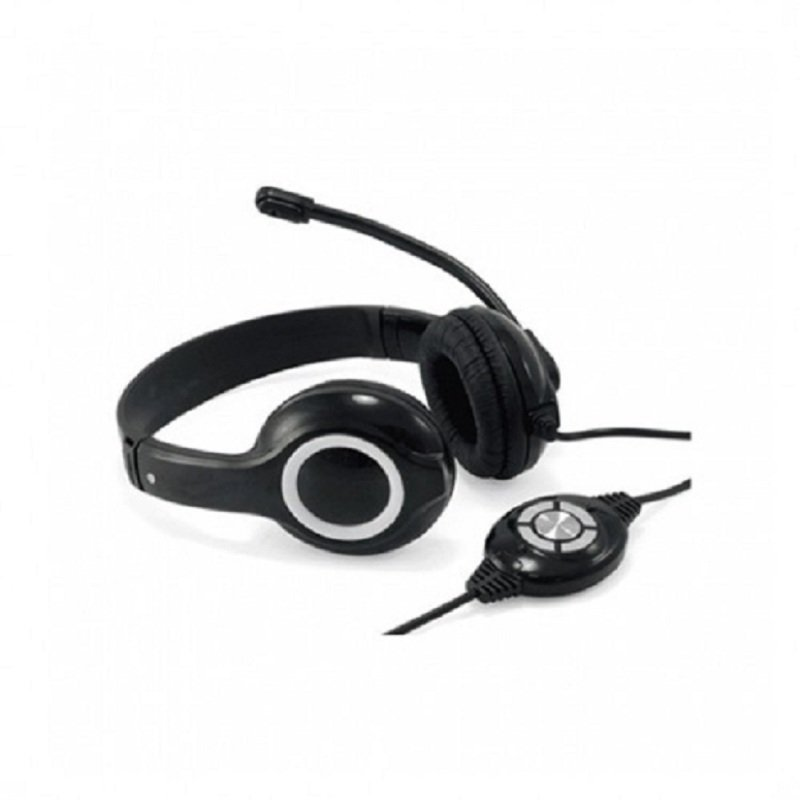 USB Stereo On-Ear Headset - Red