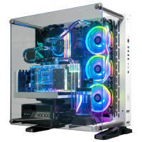 AlphaSync Water Cooled Core i9 10th Gen 64GB RAM 4TB HDD 1TB SSD RTX 2080 Super Gaming Desktop PC