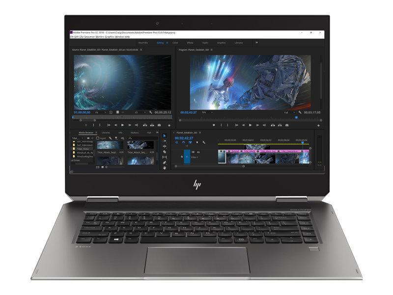 """HP ZBook Studio x360 G5 Core i7 16GB 512GB SSD Quadro P1000 15.6"""" Win10 Pro Convertible Mobile Workstation"""
