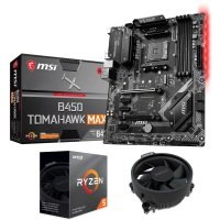 MSI AMD B450 TOMAHAWK MAX ATX Motherboard and AMD Ryzen 5 3600 AM4 CPU/ Processor Bundle