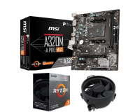 MSI A320 A320M-A PRO MAX Micro-ATX Motherboard with AMD Ryzen 3 3200G AM4 Processor Bundle