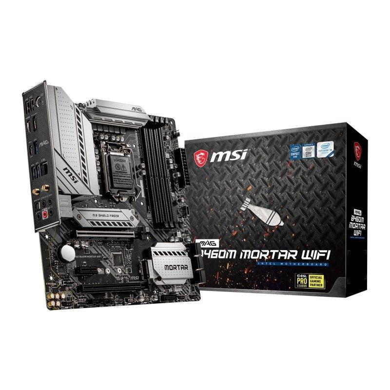 MSI MAG Intel B460M MORTAR WIFI Micro-ATX Motherboard