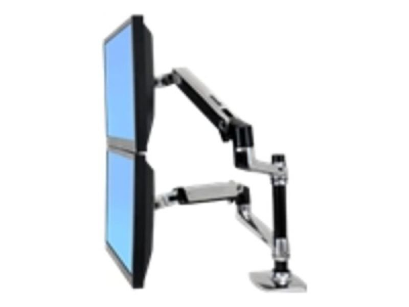 EXDISPLAY Ergotron Lx Dual Stacking Arm Mount for 2 LCD Displays