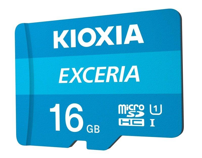 Image of Kioxia 16GB Exceria U1 Class 10 microSD