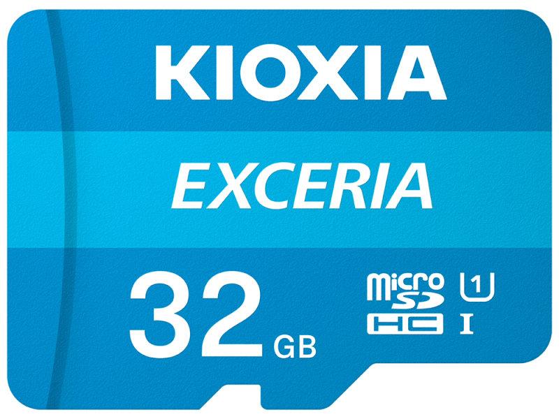 Image of Kioxia Exceria memory card 32 GB MicroSDHC Class 10