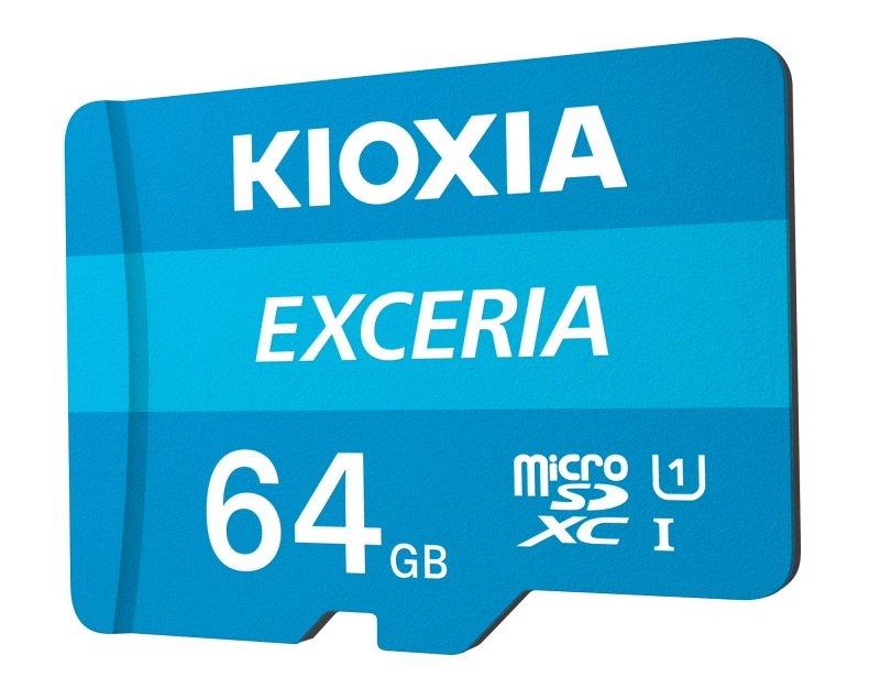 Image of Kioxia 64GB Exceria U1 Class 10 microSD