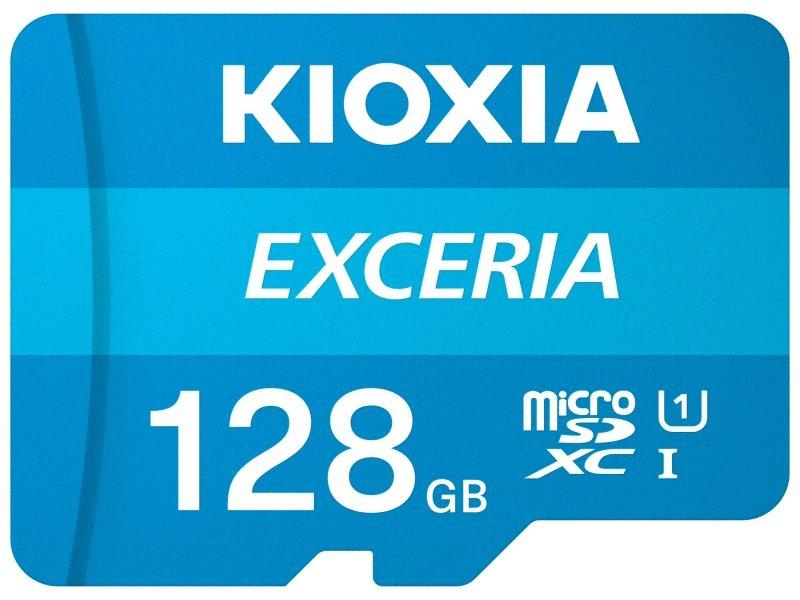 Image of Kioxia 128GB Exceria U1 Class 10 microSD
