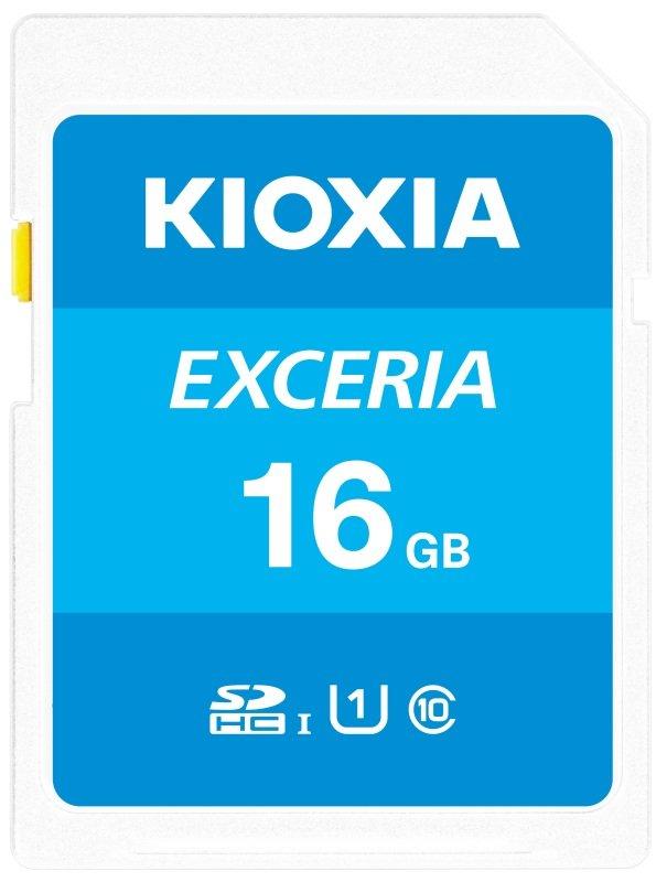 Image of Kioxia 16GB Exceria U1 Class 10 SD card
