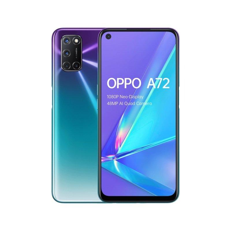 """OPPO A72 6.5"""" 128GB 4G Smartphone - Purple"""