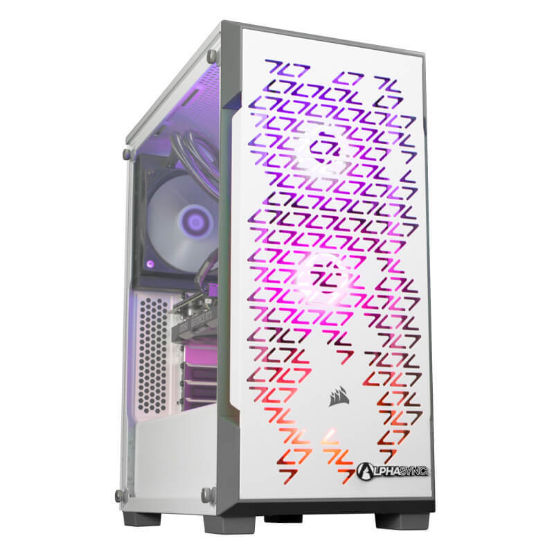 Image of AlphaSync Gaming Desktop PC, AMD Ryzen 5 3600XT, 16GB RAM, 1TB HDD, 480GB SSD, MSI GeForce RTX 2060 Super, WIFI, Windows 10 Home