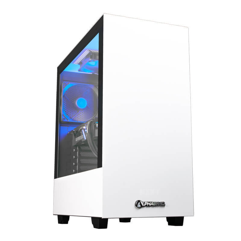 Image of AlphaSync Gaming Desktop PC, Intel Core i5-10400, 16GB RAM, 1TB HDD, 240GB SSD, ASUS GTX 1660 Super, Windows 10 Home