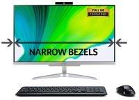 """Acer Aspire C24-320 AIO 23.8"""" AMD A9 8GB DDR4 1TB HDD 256GB SSD Win10 Home Desktop PC"""