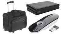 """Targus Back to Uni Bundle - USB Dock, 15.6"""" Roller, Laser Presenter"""