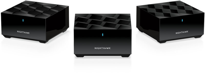 NETGEAR Nighthawk Whole Home Mesh WiFi 6 System MK63 - AX1800 Router with 2 Satellite Extender