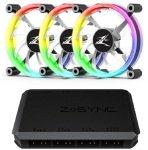 Zalman LF120A3 120mm RGB Ring LED Case Fan - Triple Pack + Hub