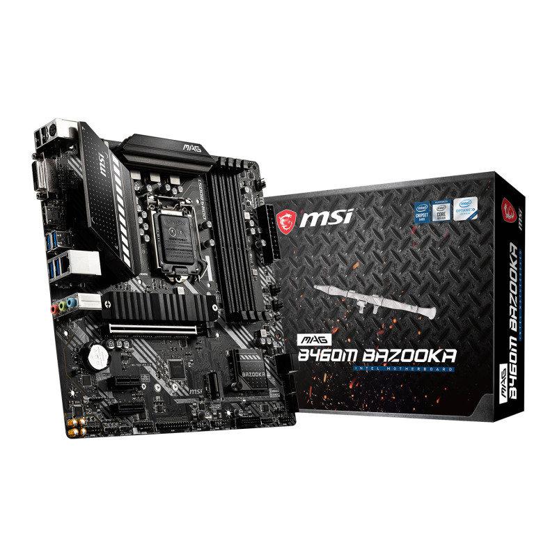 MSI MAG Intel B460M BAZOOKA Micro-ATX Motherboard